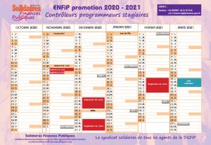 Calendrier Titularisation Stagiaires 2021 Calendrier ENFiP 2020   2021 Contrôleur Programmeur